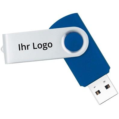 USB-Stick in Metallbox, 4 GB, blau