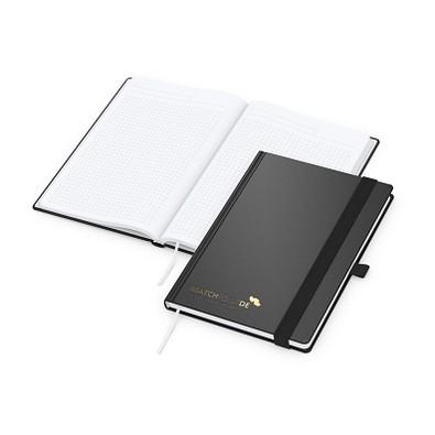 geiger notes Vision-Book A5 Bestseller, inkl. Prägung in schwarz-glänzend, schwarz