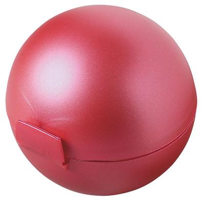 Vorratsdose Apfel-Box, metallic-rot