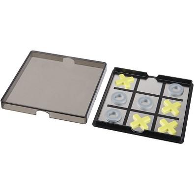 Winnit magnetisches Tic Tac Toe Spiel, schwarz,transparent