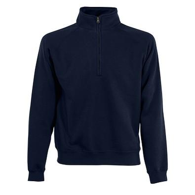 FRUIT OF THE LOOM® Unisex Sweatshirt Zip-Neck, dunkelblau, M